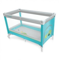 Patut pliabil Baby Design Simple Turqouise 2016 - Patut pliant bebelusi