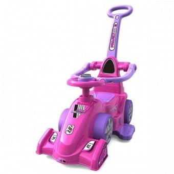 Masinuta de impins Chipolino Formula cu maner pink foto mare