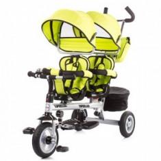 Tricicleta gemeni Chipolino Apollo lime - Tricicleta copii