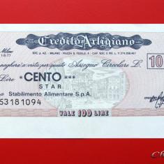 ITALIA - 100 Lire 1977 - Credito Artigiano - aUNC - Cambie si Cec