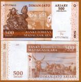 !!! MADAGASCAR - 500 ARIARY (2016) - P 95 NEW - UNC  // SEMNATURA  NOUA