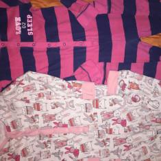 Set pijamale-salopeta George, impecabile, pt. 9 ani, Marime: 30, Culoare: Roz