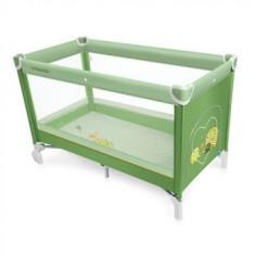 Patut pliabil Copii Baby Design Simple Green 2016 - Patut pliant bebelusi