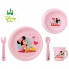 Set 5 Accesorii hrana copii Minnie Roz Kiokids