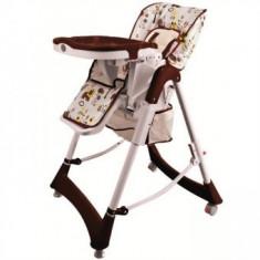 Scaun de masa copii Jungle Brown BabyGo