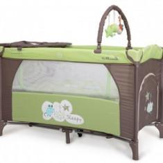 Patut Pliant Bebe Moni Sleepy Verde - Patut pliant bebelusi
