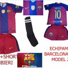 ECHIPAMENTE FOTBAL BARCELONA-MESII 2017, COPII 4-14 ANI, - Set echipament fotbal Nike, Marime: XXL, XL, L, M, S