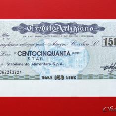 ITALIA - 150 Lire 1977 - Credito Artigiano - UNC - Cambie si Cec