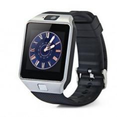 Smartwatch Star Rush DZ09 Argintiu, Bluetooth, SIM, Card, Camera, Difuzor, Microfon, Pedometru, Cronometru
