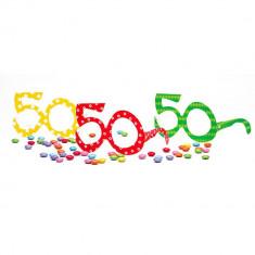 Ochelari party carton - 50 ani, Radar 50118, Set 6 buc