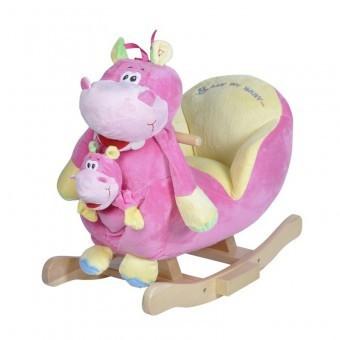Balansoar muzical Hipopotamul Doris + Marioneta foto mare