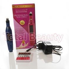 Freza Electrica Unghii pentru manichiura cu Gel UV - Albastra + CADOU - Pila unghii