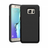 Husa ARMOR Samsung Galaxy S6 Edge neagra + folie protectie display