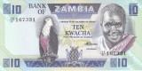 Bancnota Zambia 10 Kwacha (1988) - P26e UNC
