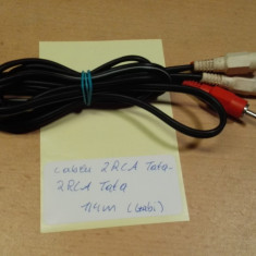 Cablu 2 RCA Tata - 2 RCA Tata 1, 4 m (Gabi)