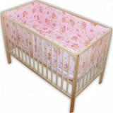 Lenjerie patut Hubners Ursulet cu albinute 5 piese roz - Lenjerie pat copii
