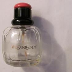 "PVM - Sticla veche originala Yves Saint Laurent Apa de Toaleta ""Paris"" Franta"