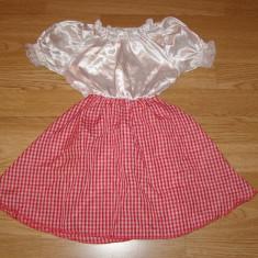 Costum carnaval serbare scufita rosie pentru copii de 3-4 ani - Costum Halloween, Marime: Masura unica, Culoare: Din imagine