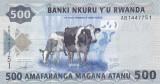 Bancnota Rwanda 500 Franci 2013 - P38 UNC