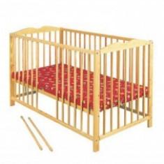 Patut Din Lemn KLUPS RADEK IV Natur+Saltea 10Cm - Patut lemn pentru bebelusi