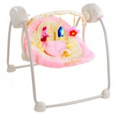 Leagan electric CANGAROO Baby Swing Roz - Balansoar interior