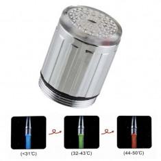 CAP PENTRU ROBINET CU LED-URI MULTICOLORE - Baterie baie
