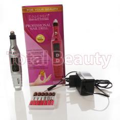 Freza Electrica Unghii pentru manichiura cu Gel UV - Silver + CADOU - Pila unghii