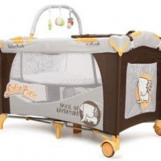 Patut Pliant MONI Happy Baby Safari Park - Patut pliant bebelusi