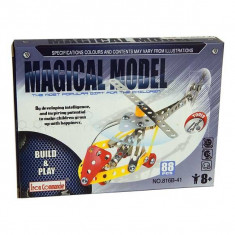 Jucarie Set constructii metalice 88 piese Elicopter