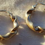 Cercei argint aurit SUPERBI eleganti IMPECABILI executati manual de Efect