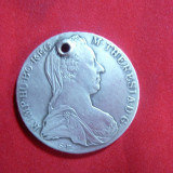 Moneda- Medalion, gaurita - Taler Maria Tereza 1780, cal.F.Buna, argint, Europa