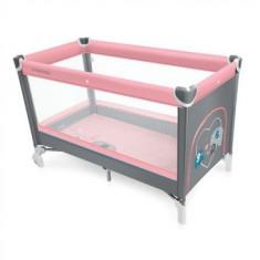 Patut pliabil Baby Design Simple Pink 2016 - Patut pliant bebelusi