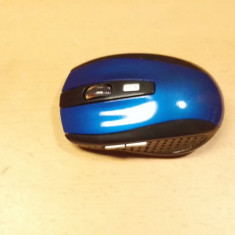 Mouse Optical Wireless 6 Butoane Nou albastru