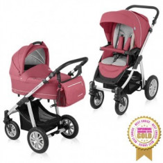 Carucior 2 in 1 Baby Design Lupo Comfort Raspberry - Carucior copii 2 in 1
