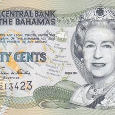 Bancnota Bahamas 50 Centi 2001 - P68 UNC - bancnota america