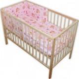 Lenjerie patut Hubners Ursulet cu albinute 4 piese roz - Lenjerie pat copii
