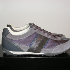 Pantofi Geox din piele intoarsa si panza nr. 41 si 42 - Pantof barbat Geox, Culoare: Din imagine, Textil, Sport