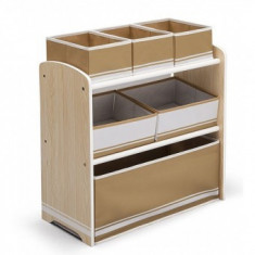 Organizator jucarii cu cadru din lemn Love Natural - Sistem depozitare jucarii