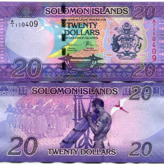 !!! NOU : SOLOMON ISLANDS - 20 DOLARI 2017 - P NEW - UNC