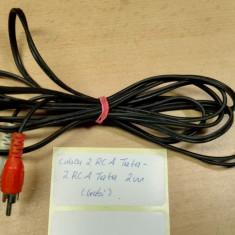 Cablu 2 RCA Tata - 2 RCA Tata 2m (Gabi) - Cablu Camera Video