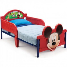 Pat cu cadru metalic Disney Mickey Mouse 3D - Pat tematic pentru copii