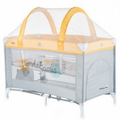 Patut bebe pliabil Chipolino Ariel yellow - Patut pliant bebelusi