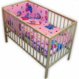 Lenjerie patut Hubners Princess 4 piese roz - Lenjerie pat copii