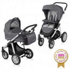 Carucior 2 in 1 Baby Design Lupo Comfort Graphite - Carucior copii 2 in 1