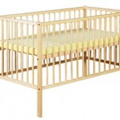 Patut Din Lemn KLUPS RADEK X Natur+Saltea 8Cm - Patut lemn pentru bebelusi