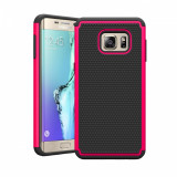 Husa ARMOR Samsung Galaxy S6 Edge Plus roz + folie protectie display