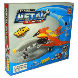 Jucarie Set constructii metalice Avion de lupta 100 piese - Set de constructie