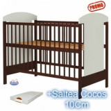 Patut din lemn fara sertar Kamilla Venghe+Saltea - Patut lemn pentru bebelusi Hubners