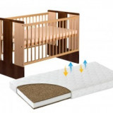 Patut KLUPS Paula Natur Venghe + Saltea 10cm - Patut lemn pentru bebelusi
