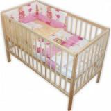 Lenjerie patut Hubners Ursuletul Gradinar 4 piese roz - Lenjerie pat copii